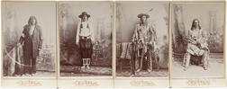Four Cabinet Card Photos of Native American Men