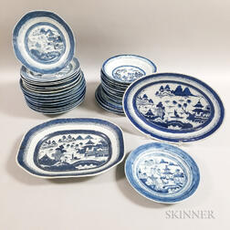 Thirty Canton Export Porcelain Table Items