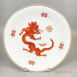 "Meissen Ceramic ""Dragon"" Charger"