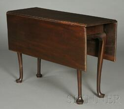 Small Queen Anne Carved Mahogany Drop-leaf Table