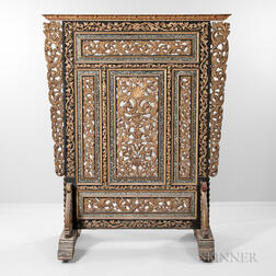 Continental Baroque-style Carved Floor Screen