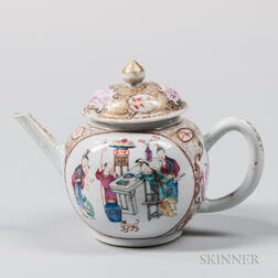 Famille Rose Export Covered Teapot