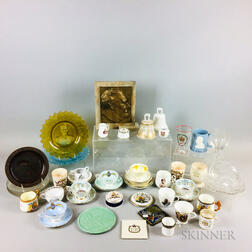 Large Group of Mostly Ceramic and Glass Commemorative Items.