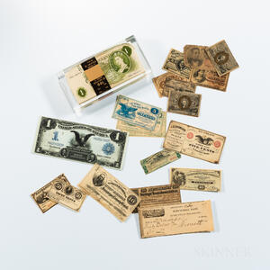 Small Group of American and World Bank Notes