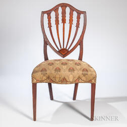 Mahogany Shield-back Side Chair