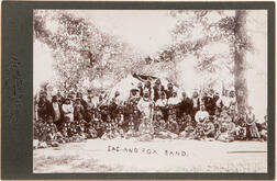 Cabinet Card Photo of Sac and Fox Band