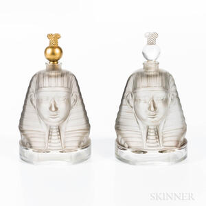 """Two Baccarat Molded Glass """"Ramses IV"""" Perfumes"""