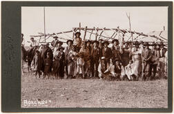 Cabinet Card Photo of an Apache Camp