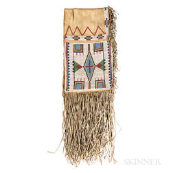 Lakota Beaded Hide Double Saddlebags