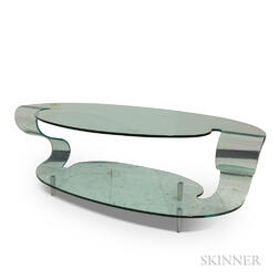 Fiam Italia Post Modern Sculpted Glass Coffee Table