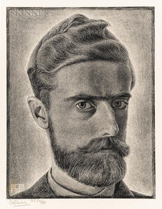 M.C. (Maurits Cornelis) Escher (Dutch, 1898-1972)      Self Portrait
