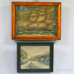 Two Framed Embroideries