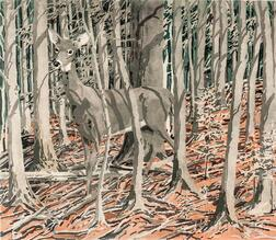 Neil Welliver (American, 1929-2005)      Deer