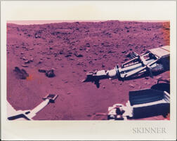 Viking 1, A Summer Day on Mars, August 15, 1976, Two Images: Color and Black-and-white.