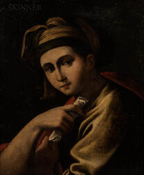 Continental School, 19th Century      Copy of an Old-Master Style Sibyl