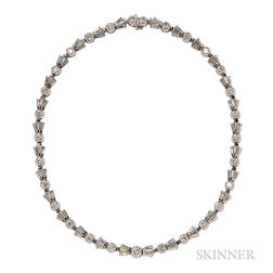 18kt White Gold and Diamond Necklace