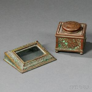 Tiffany Studios Grapevine Inkwell and Calendar