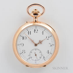 A. Eppner & Cie. 14kt Gold Quarter-repeating Open-face Watch