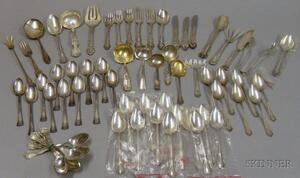 Large Group of Mostly Sterling Silver Flatware