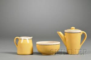 Saturday Evening Girls Pottery Creamer, Small Bowl, and Teapot