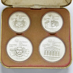 1976 Montreal Olympics Commemorative Four-coin Set