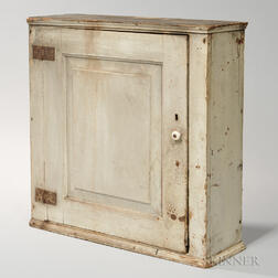 White-painted Wall Cabinet