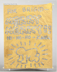 Keith Haring (American, 1958-1990)      Merry Christmas  /Envelope