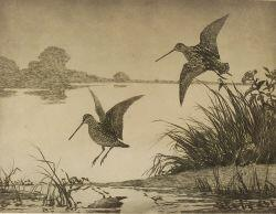 Aiden Lassell Ripley (American, 1896-1969)  Snipe at Dawn.