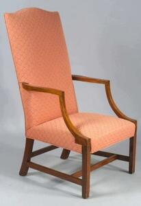 Federal Mahogany Inlaid Lolling Chair