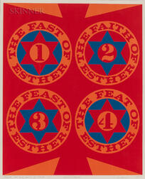 Robert Indiana (American, 1928-2018)      Purim: The Four Facets of Esther (II)