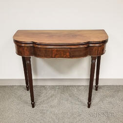 Federal Mahogany Card Table