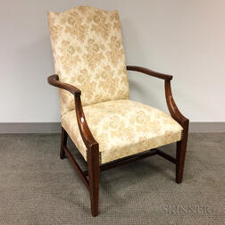 Federal-style Mahogany Lolling Chair