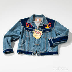 Joel Otterson (California/New York, b. 1959)    Diesel Jean Jacket with Embroidered Flames
