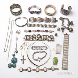 Group of Sterling and Silver-tone Jewelry
