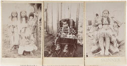 Three Cabinet Cards Photos of Native American Children