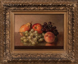 Robert Spear Dunning (American, 1829-1905)      Tabletop Still Life with Fruit
