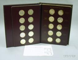 Set of Sixty Sterling Silver Commemorative Coins