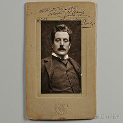 Puccini, Giacomo (1858-1924) Signed Photograph, 19 July 1905.