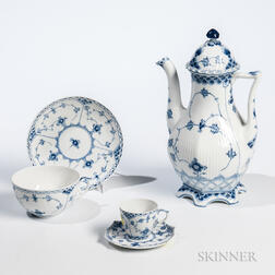 "Group of Royal Copenhagen ""Blue Fluted"" Pattern Porcelain Tableware"