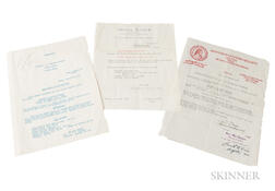 Two Certificates of Authenticity, Bisiach Brothers, 1950-1957