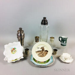 Fourteen Golf-related Decorative Items