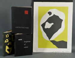Kepes Book, Frank Lloyd Wright Book, and Jean Arp Book and Print
