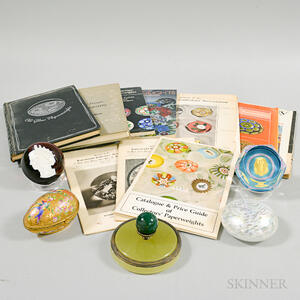 Group of Paperweights and Related Ephemera