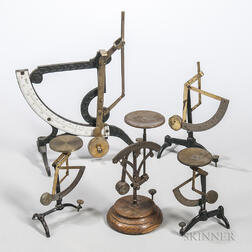 Five 19th Century Postal Scales