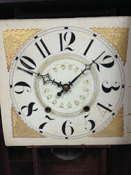 Eli Terry Stenciled Column and Splat Shelf Clock