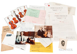 Collection of Violin-related Financial Records, c. 1960