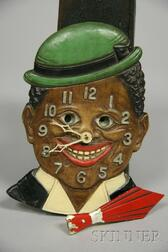 """Animated """"Dixie Boy"""" Pendulette Clock by Lux Clock Mfg. Company"""
