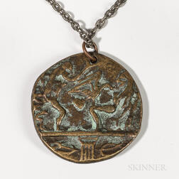 Mycenaean Revival Bronze Medallion