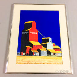 "Framed Print of a ""Pioneer"" Grain Silo"
