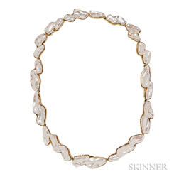 18kt Gold and Freshwater Pearl Necklace, Angela Cummings, Tiffany & Co.